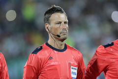 Arbitre du football de Mark Clattenburg Photo stock
