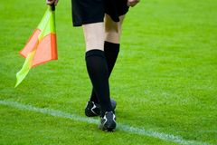 Arbitre du football ou du football Photographie stock