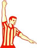 Arbitre Stop Clock Foul de basket-ball rétro Images stock