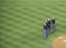 Arbitres de Yankee Stadium Photographie stock libre de droits