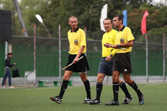 Arbitres du football Image stock