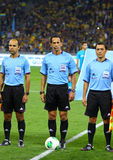 Arbitres du football Photographie stock libre de droits