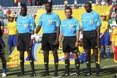 Arbitri di calcio Immagine Stock