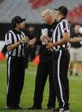 Arbitri e allenatore di football americano di calcio Fotografie Stock Libere da Diritti
