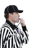 Arbitro che salta il fischio Fotografia Stock Libera da Diritti