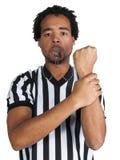 Arbitro con il gesto del gioco Immagini Stock