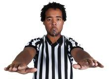 Arbitro con il gesto del gioco Fotografia Stock Libera da Diritti