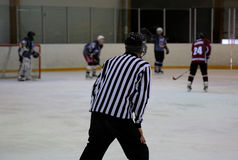 Arbitro del hockey su ghiaccio Fotografie Stock