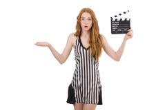 Arbitro della donna Fotografie Stock
