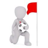Arbitro di calcio con calcio Immagine Stock Libera da Diritti