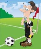 Arbitro di gioco del calcio Fotografie Stock