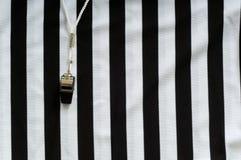 Arbitro Jersey e fischio Immagine Stock Libera da Diritti