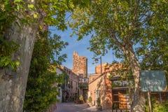 Arbocet, Tarragona, Spanje, klein tipical Spaans dorp Stock Foto's