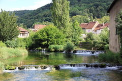 Arbois, city of Jura Stock Photos