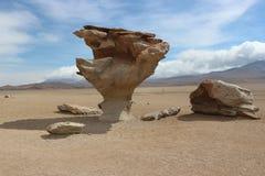 Arbol de Piedra, έρημος Atacama - πέτρινο δέντρο Στοκ Εικόνες