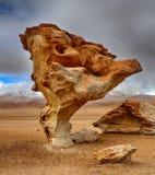 Arbol de Piedra, έρημος Siloli - Βολιβία Στοκ Εικόνα