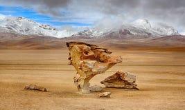 Arbol de Piedra, έρημος Siloli & x28 bolivia& x29  Στοκ Φωτογραφίες
