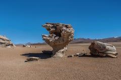 Arbol de Piedra ή πέτρινο δέντρο, Altiplano, Βολιβία Στοκ Εικόνα
