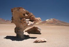Arbol de Piedra. Beautiful geological feature of Arbol de Piedra. Uyuni Tour. Altiplano. Bolivia Stock Photos