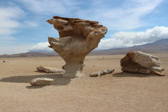 Arbol de Piedra, Atacama Desert - Stone Tree. Stone Tree Atacama Desert near the border of Bolivia and Chile Stock Images