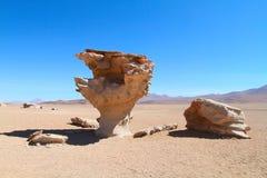 Arbol de piedra, Bolivia. Stone rock formation - Arbol de piedra, Bolivia Royalty Free Stock Photography