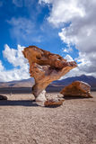Arbol de Piedra in Siloli desert, sud Lipez reserva, Bolivia Royalty Free Stock Photo