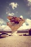 Arbol de Piedra in Siloli desert, sud Lipez reserva, Bolivia. Arbol de Piedra in Siloli desert, sud Lipez reserva Eduardo Avaroa, Bolivia Royalty Free Stock Photography