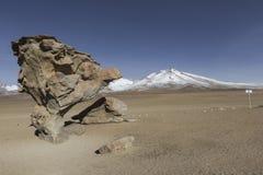 Arbol de Piedra Stone το δέντρο είναι ένας απομονωμένος σχηματισμός βράχου στο θόριο Στοκ Φωτογραφίες