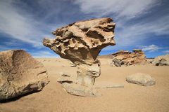 Arbol de Piedra or Stone Tree, Bolivia. South America It is an isolated rock formation in the Eduardo Avaroa Andean Fauna National Reserve of Sur Lipez Stock Photography