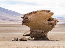 Arbol de Piedra (stone tree) is an isolated rock formation in Bo. Arbol de Piedra (stone tree) is an isolated rock formation in the bolivian desert Stock Photo