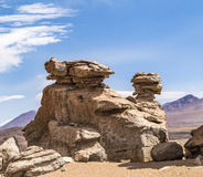 Arbol de Piedra (stone tree) is an  rock formation in Bo. Arbol de Piedra (stone tree) is an  rock formation in the bolivian desert Stock Images