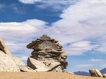 Arbol de Piedra (stone tree) is an  rock formation in Bo Stock Image