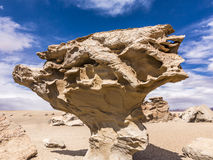 Arbol de Piedra (stone tree) is an  rock formation. In the bolivian desert Royalty Free Stock Image