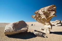 Arbol de Piedra - träd av vagga, den Siloli öknen - Bolivia arkivbilder