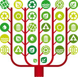 arbol reciclado 免版税库存图片