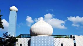 Arbolados el Ministerio de marina Rd Singapur de Masjid An-Nur fotos de archivo