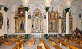 arboleas kyrka inre santiago royaltyfri bild