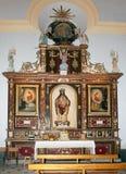 arboleas kyrka inre santiago fotografering för bildbyråer