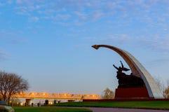 Arboleda compleja conmemorativa de Kumzhenskaya en honor de soldados caidos del ejército rojo que libera Rostov-On-Don en 1941 y  Imagen de archivo libre de regalías