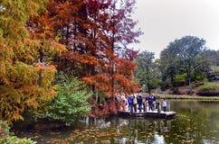 Arborétum d'Ataturk Arbres d'automne autour de lac Images stock