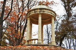 Arbor. Antique gazebo in the park of the city of Nalchik Stock Photo