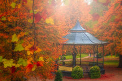 Arbor in a beautiful park. In autumn, Colchester, England, UK Royalty Free Stock Photos