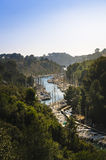 Arbor and boats of Port-Miou, Cassis, France Royalty Free Stock Photography