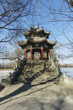 Arbor of the bridge. In Summer Palace Royalty Free Stock Photography