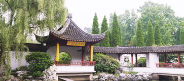 Arbor. Chinese ancient architecture . For walking, resting , fishing, enjoying the views Stock Images