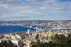 Arbor and city of Marseille, France. Arbor and city of Marseille Royalty Free Stock Image