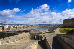 Arbor and city of Marseille, France. Arbor and city of Marseille Stock Photography