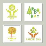 Arbor day14. Arbor Day. Ecology concept design. Green Eco Earth. Vector illustration for greeting card, poster, banner, eco design vector illustration