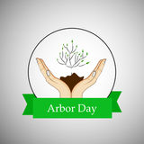 Arbor Day Background. Illustration of elements for Arbor Day royalty free illustration