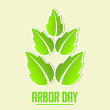 Arbor Day. Creative abstract for Arbor Day with creative illustration in background stock illustration